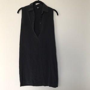 Uniqlo silk sleeveless shirt dress
